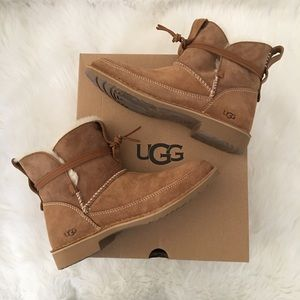 New UGG Esther Sheepskin Suede Boots 8.5